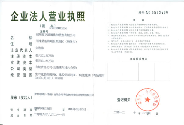 Binzhou plant business license